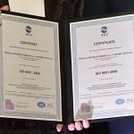 Certifikát systému manažérstva kvality - ISO 9001 - 2008