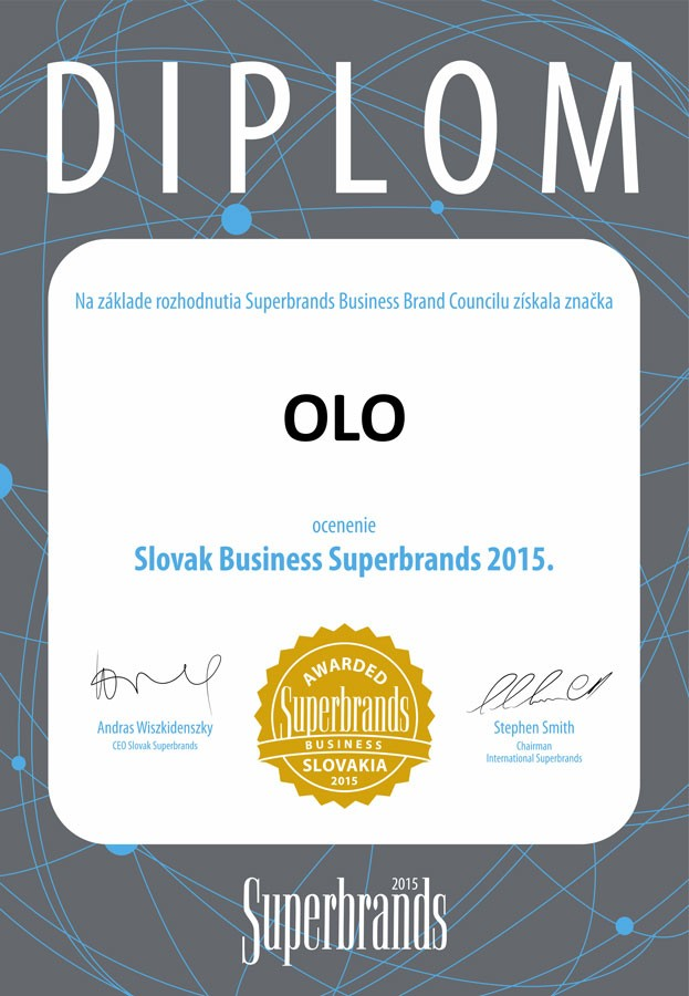 diplom: Slovak Business Superbrands