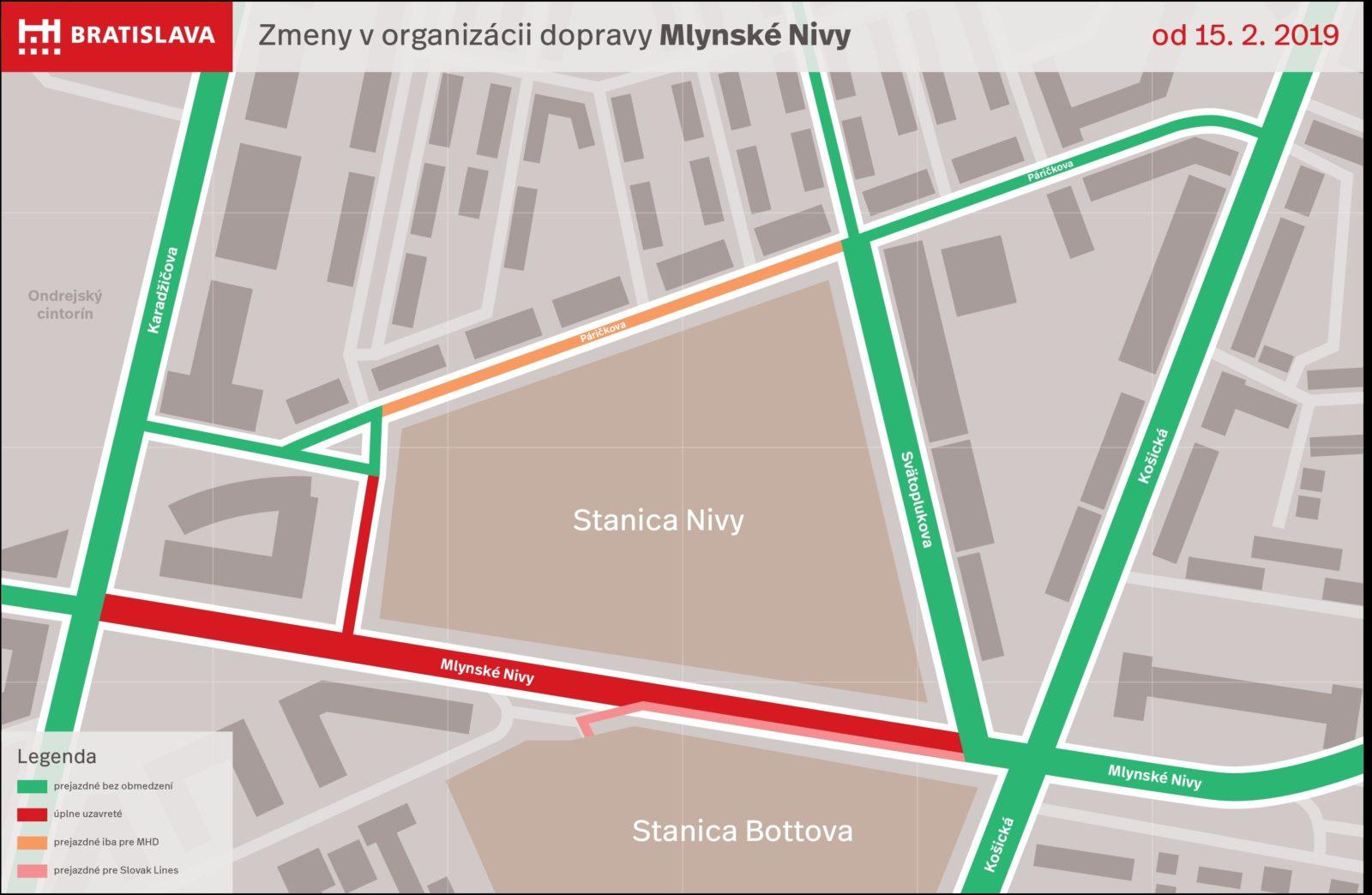 OLO sa pripravuje na dopravné obmedzenia, ktoré nastanú v Bratislave od 15. februára 2019